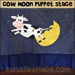 Cow Jumping Over the Moon Puppet Stage Curtain Decoration