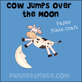 Cow Jumps Over the Moon Paper Plate Craft for Kids from www.daniellesplace.com