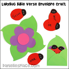Ladybug Bible Verse Review with Flower Envelope Craft for Sunday School from www.daniellesplace.com. Cllick on the image to go to follow the link.