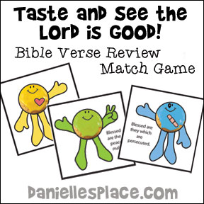 Taste And See That The Lord Is Good Bible Verse Review Game For