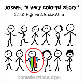 """Joseph, A Very Colorful Story"" Bible lesson Illustration from www.daniellesplace.com"
