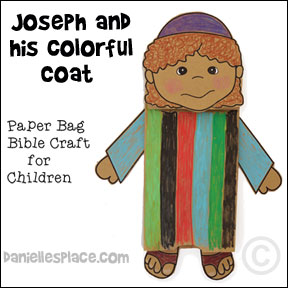 Joseph and His Coat of Many Colors Bible Craft for Children from www ...