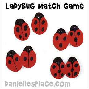 Ladybug Match Game from www.daniellesplace.com
