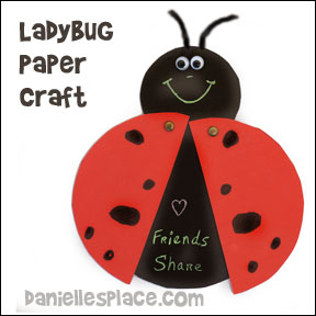 Ladybug Paper Craft for Kids from www.daniellesplace.com