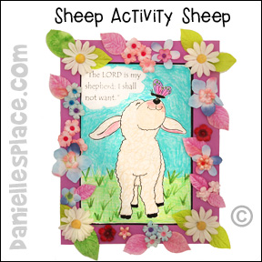 The Lord is My Shepherd Sheep Activity Sheet from www.daniellesplace.com