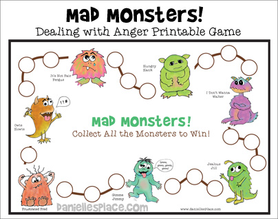 Bible Crafts And Games About Anger