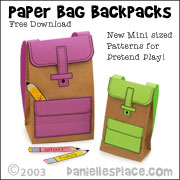 Paper Bag Backpack Craft from www.daniellesplace.com