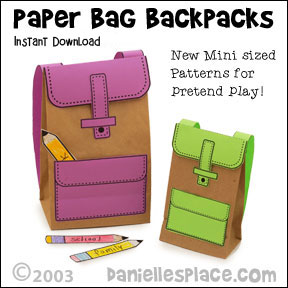 Paper Bag Backpack Craft for Children