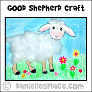 Good Shepherd Sheep Craft from www.daniellesplace.com