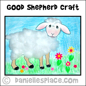 Make A Cotton Ball Sheep With Bible Verse Picture