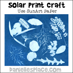 Solar Print Craft for Children from www.daniellesplace.com