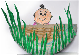 Baby Moses in a Basket Paper Plate Craft from www.daniellesplace.com