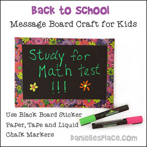 Back to school memo board