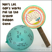 Don't Let God's Words Fall to the Ground Balloon Game