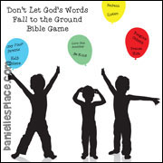 Don't Let the Lord's Words Fall to the Ground Bible verse Review Game for children's Ministry