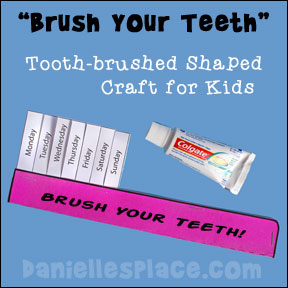 Free Brush Your TeethToothbrush-Shaped Book Pattern
