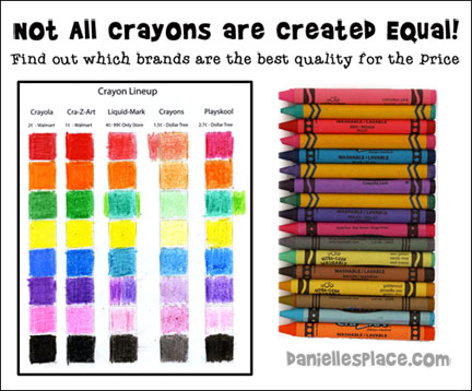 Not all crayons are created equal! Find out which brands are the best quality for the price at www.daniellesplace.com