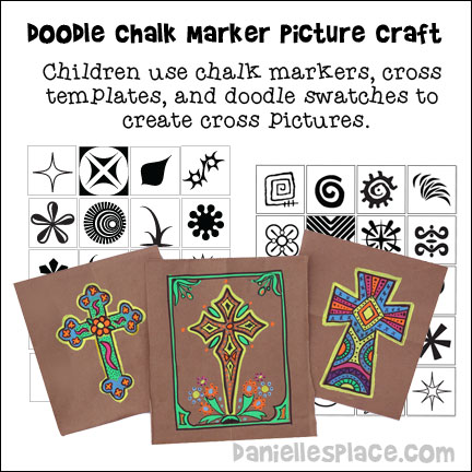 Chalk Marker Doodle cross pictures from www.daniellesplace.com