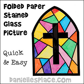 Stained Glass Window Cross Pattern Crafts For Sunday School And Childrens Ministry