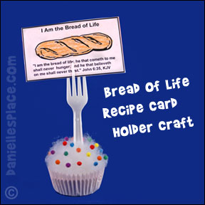 Cupcake Recipe Card Holder Craft for Bread of Life Bible lesson for children