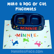 Cat and Dog Placemats Craft for Kids from www.daniellesplace.com