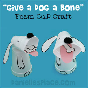 Foam Cup Dog Craft For Children From Daniellesplace