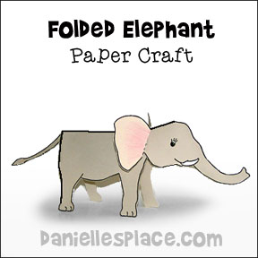 Elephant Folded Paper Craft from www.daniellesplace.com