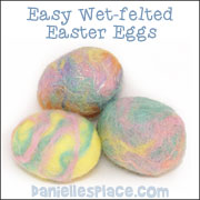 Felted Easter Egg Craft for Children from www.daniellesplace.com