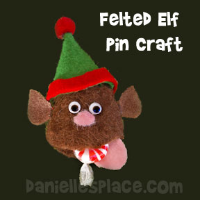 Felted Elf Pin Craft from www.daniellesplace.com