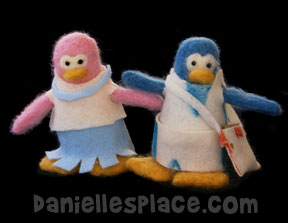 Felted Penguin Craft for Kids