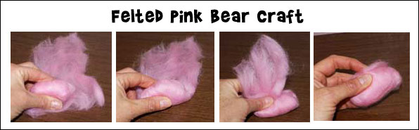 Felted Pink Bear Diagram
