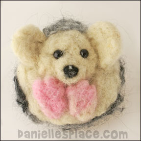 Felted Hedgehog Craft