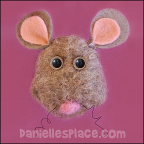 Wet Felted Mouse Pin Craft for Kids from www.daniellesplace.com