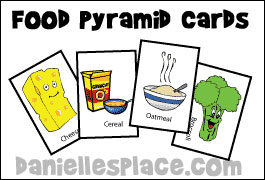 Food Pyramid Cards  for Eating Healthy Interactive Food Pyramid Game from www.daniellesplace.com