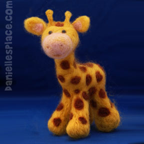 Felted Giraffe Craft