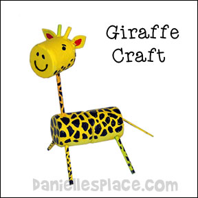 Giraffe Marshmallow Craft for Kids