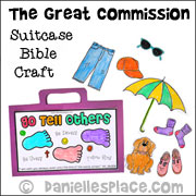 Go Tell Other Great Commission Suitcase Craft from www.daniellesplace.com