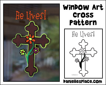 Cross Window Art Pattern - Use liquid chalk art and the printable Cross pattern to decorate your windows from www.daniellesplace.com