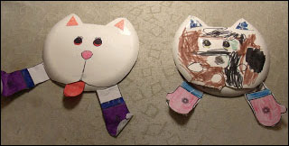 Kitten's Wearing Mittens Paper Plate Craft and Matching Game from www.daniellesplace.com
