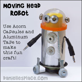 Moving Head Robot Crafts for Children from www.daniellesplace.com