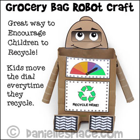 Grocery Bag Robot Craft from www.daniellesplace.com