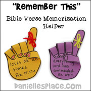 Rmember This Bible Verse Memorization Helper Craft