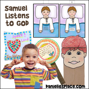 Samuel Listens to God Bible Lesson for Children from www.daniellesplace.com