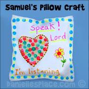 Samuel's Pillow Sunday School Craft for Kids