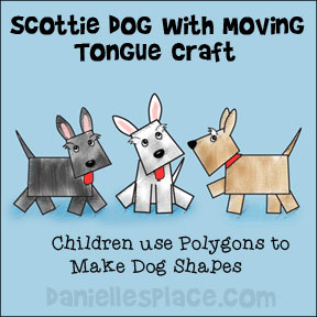 Scottie Dogs with Moving Tongues Paper Craft using polygons