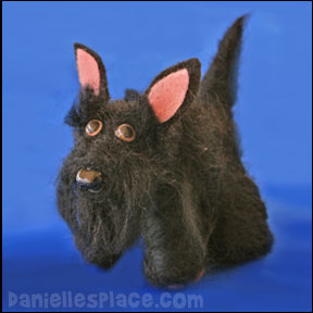 Felted Scottie Dog Craft