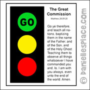 The Great Commission Traffic Light Craft for Sunday School from www.daniellesplace.com