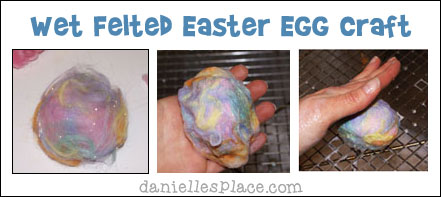 Wet Felted Easter Eggs from www.daniellesplace.com