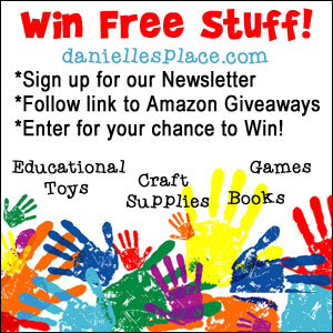 Win Free Craft Supplies, Books, And Educational Tools from Danielle's Place of Crafts and Activities and Amazon Giveaways! Click on the image to find out how to win!