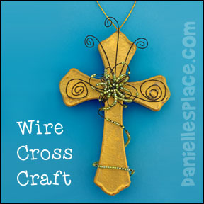 Wire Wrap Cross Craft from www.daniellesplace.com